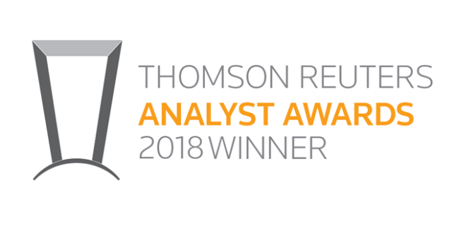 Suraj Kalia Recognized by Thomson Reuters as a Top Stock